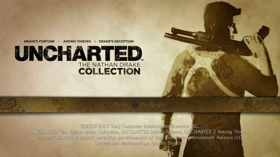 Uncharted: The Nathan Drake Collection má elegantní menu 114012
