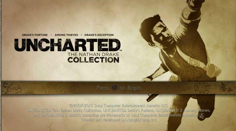 Uncharted: The Nathan Drake Collection má elegantní menu 114013