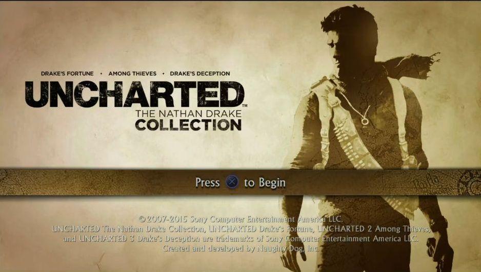Uncharted: The Nathan Drake Collection má elegantní menu 114014