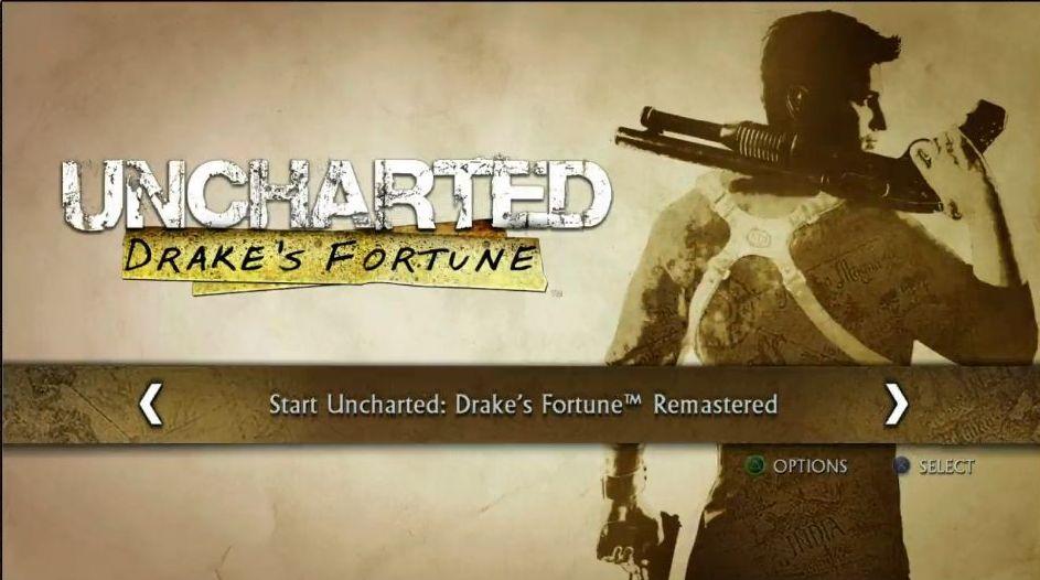 Uncharted: The Nathan Drake Collection má elegantní menu 114015