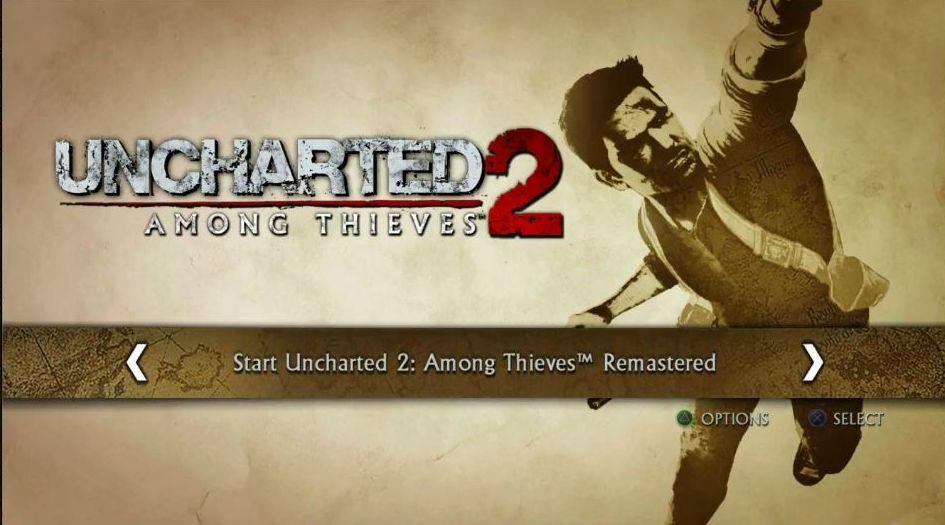 Uncharted: The Nathan Drake Collection má elegantní menu 114016