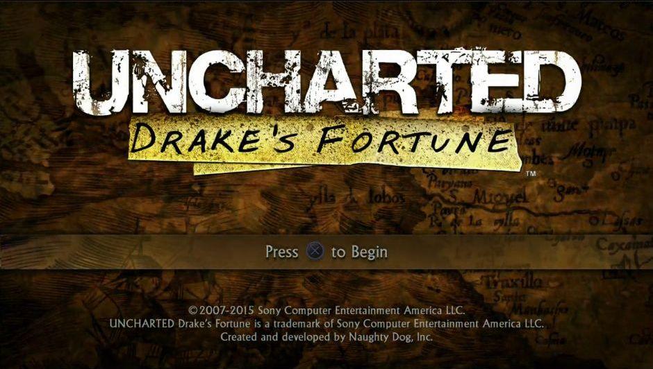 Uncharted: The Nathan Drake Collection má elegantní menu 114023