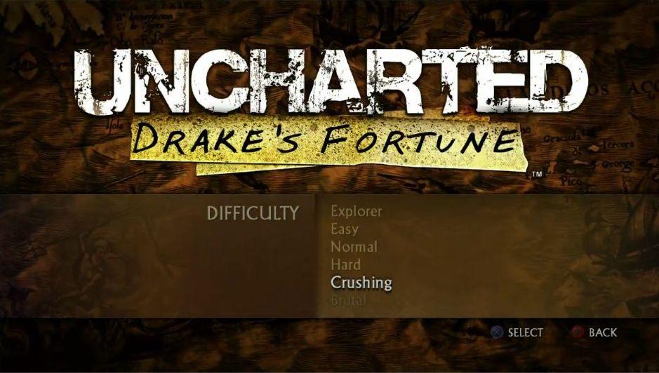 Uncharted: The Nathan Drake Collection má elegantní menu 114024