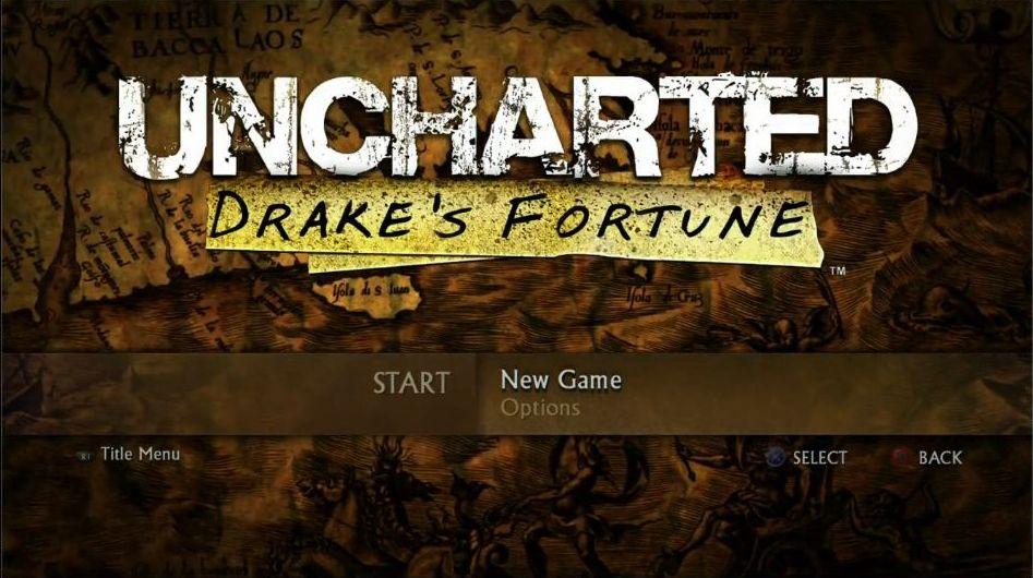 Uncharted: The Nathan Drake Collection má elegantní menu 114025