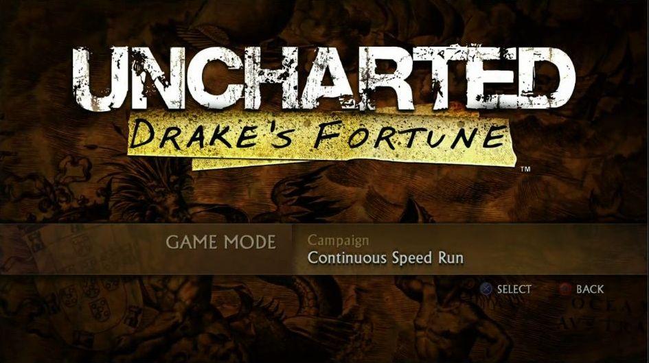Uncharted: The Nathan Drake Collection má elegantní menu 114026