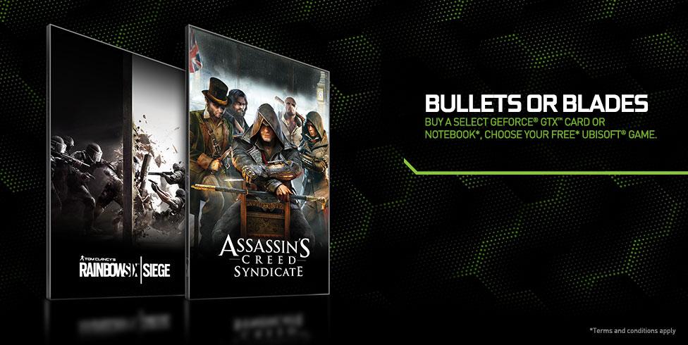 Ke grafickým kartám GeForce hra Assassin's Creed nebo Rainbow Six 114624