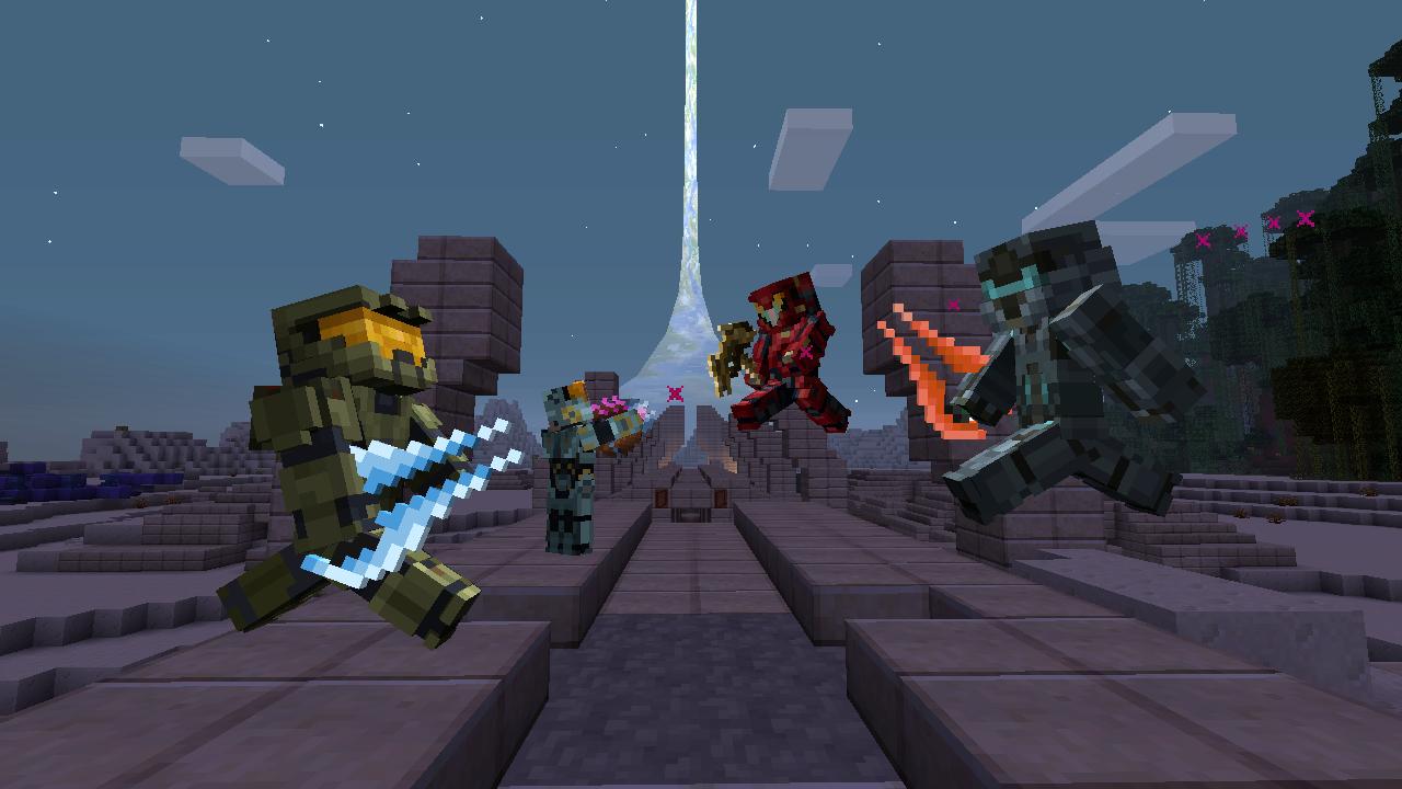 V Minecraftu začíná válka mezi Master Chiefem a Spartanem Lockem 115171