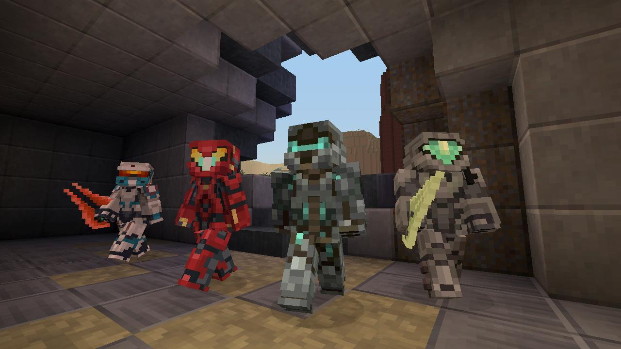 V Minecraftu začíná válka mezi Master Chiefem a Spartanem Lockem 115173