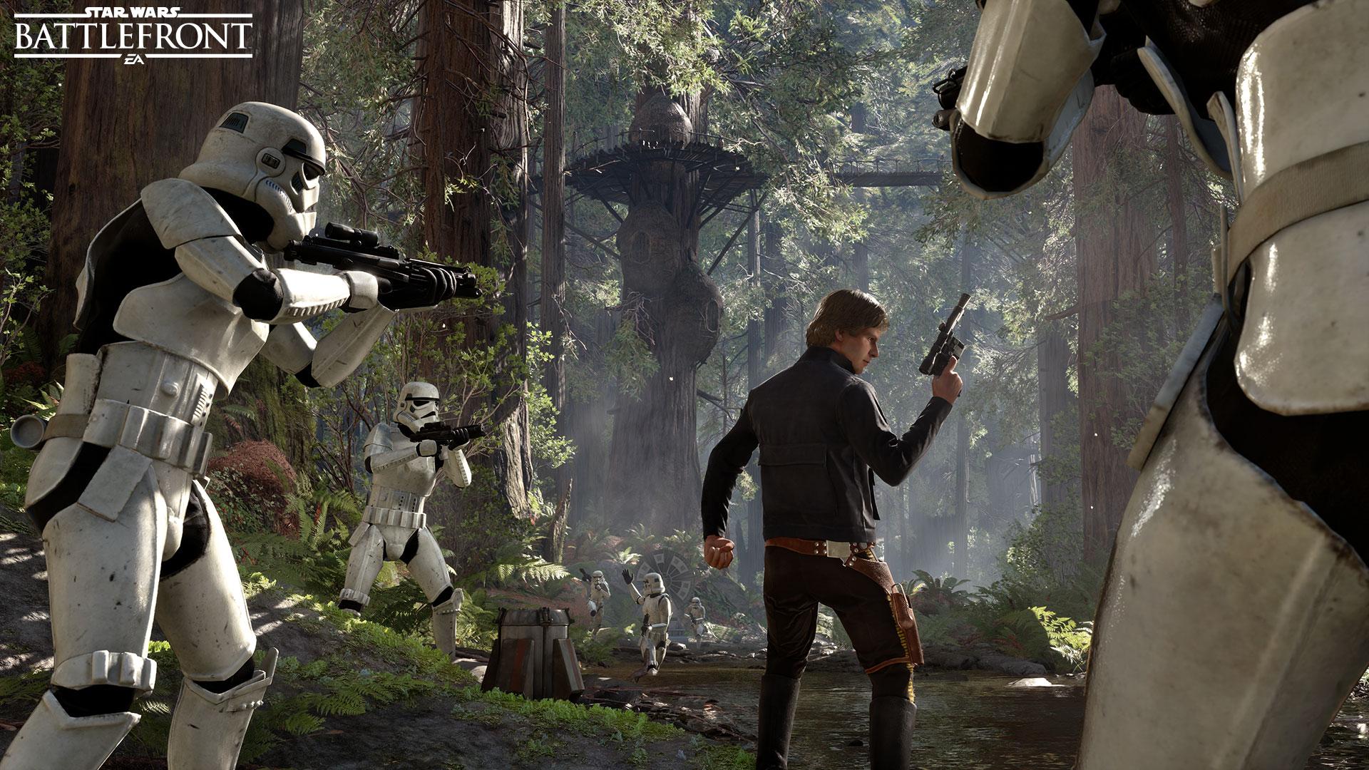 Ve Star Wars: Battlefront se opravdu objeví Han Solo, Leia Organa a císař Palpatine 115255