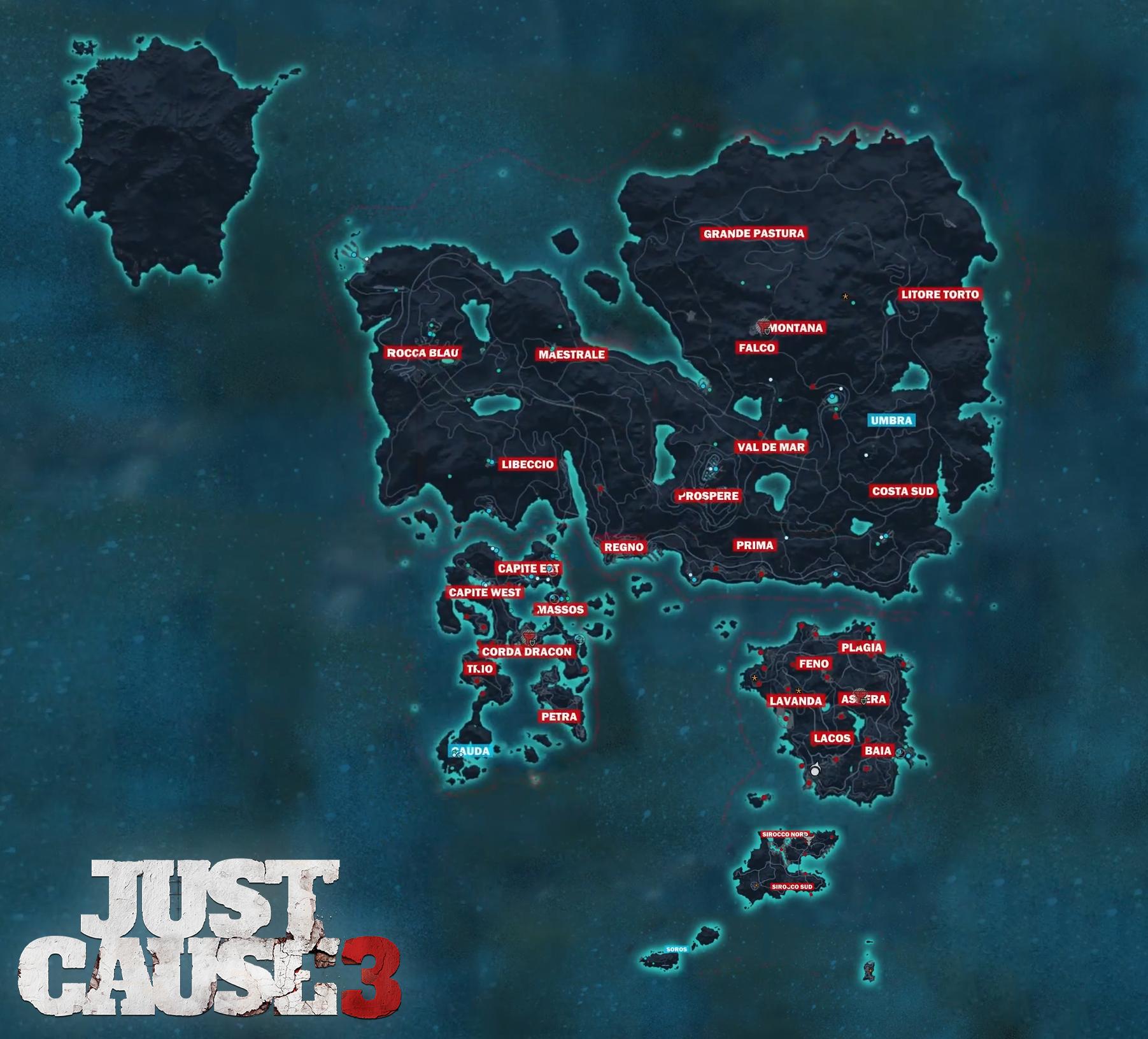 Prohlédněte si mapu Just Cause 3 115538
