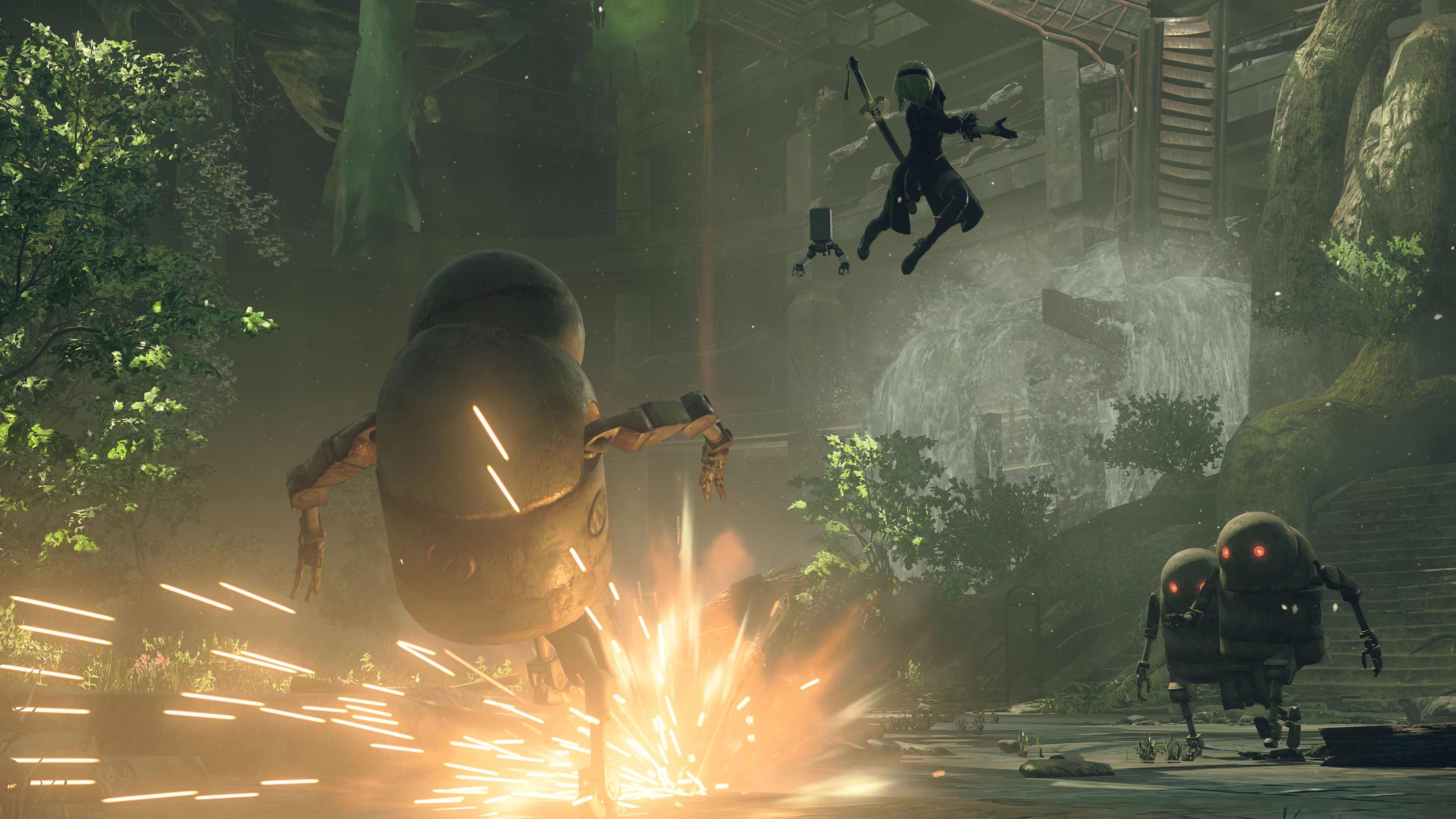 NieR: Automata v prvním gameplay traileru a screenshoty 115658