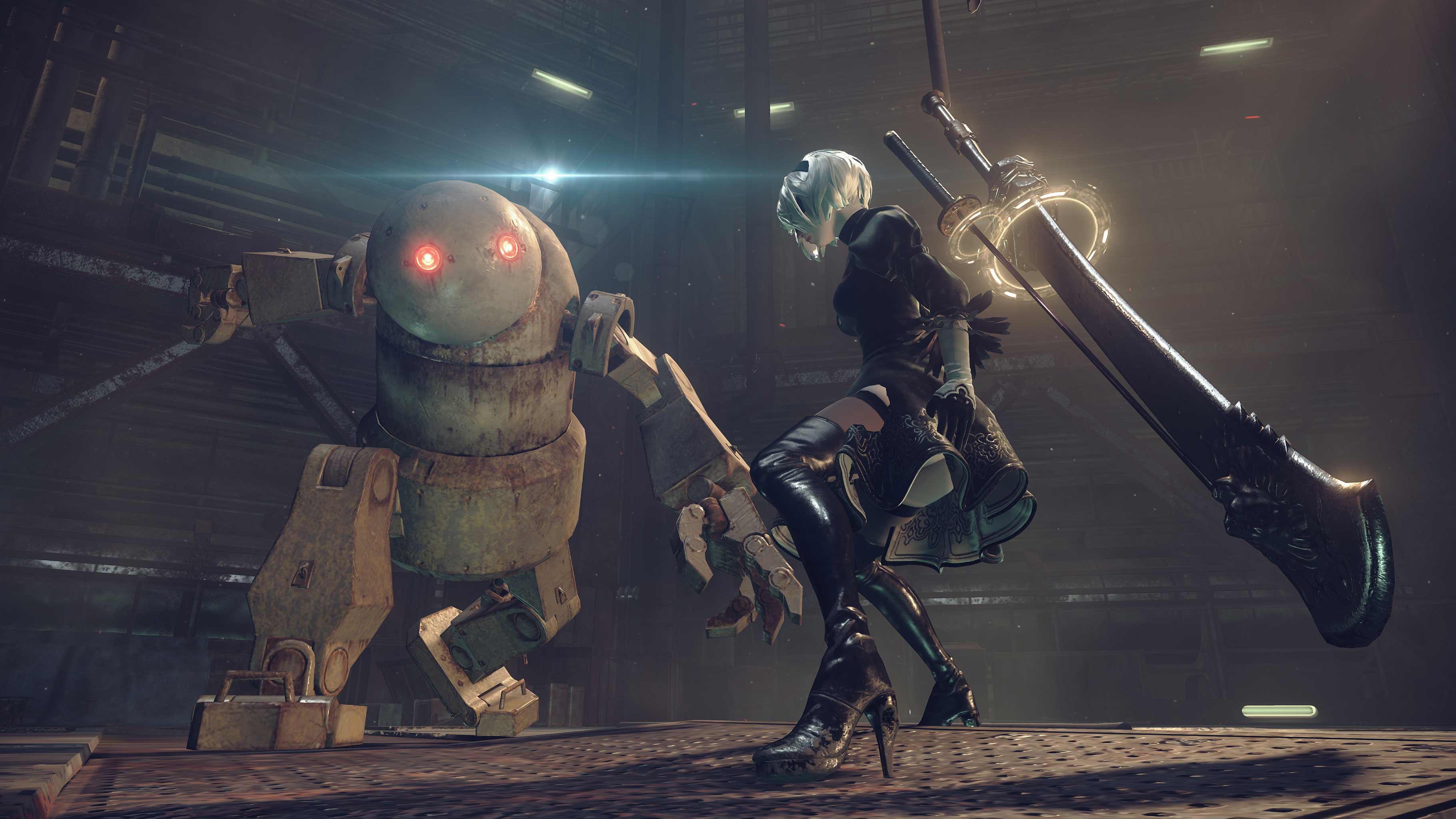 NieR: Automata v prvním gameplay traileru a screenshoty 115659