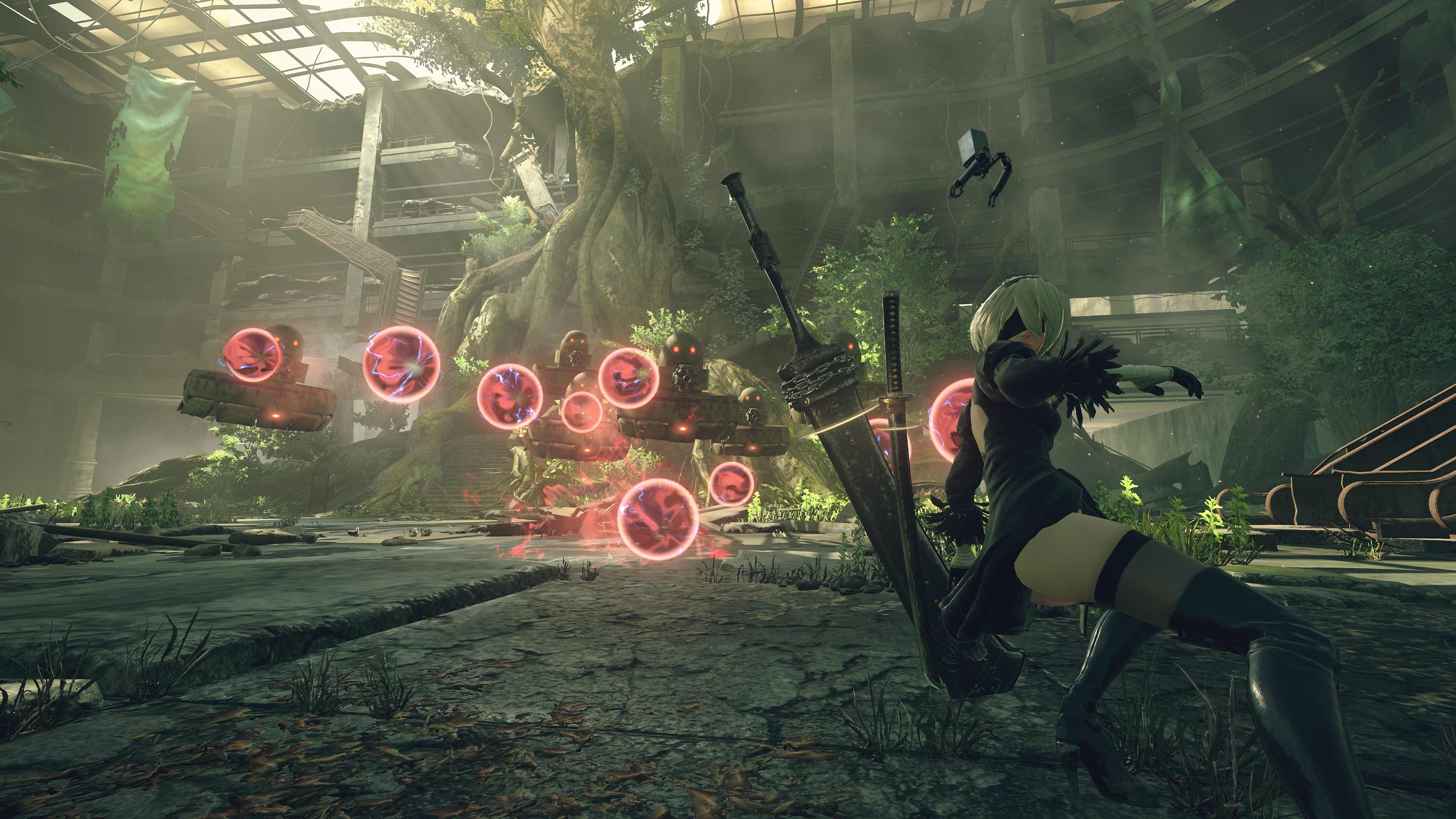 NieR: Automata v prvním gameplay traileru a screenshoty 115661