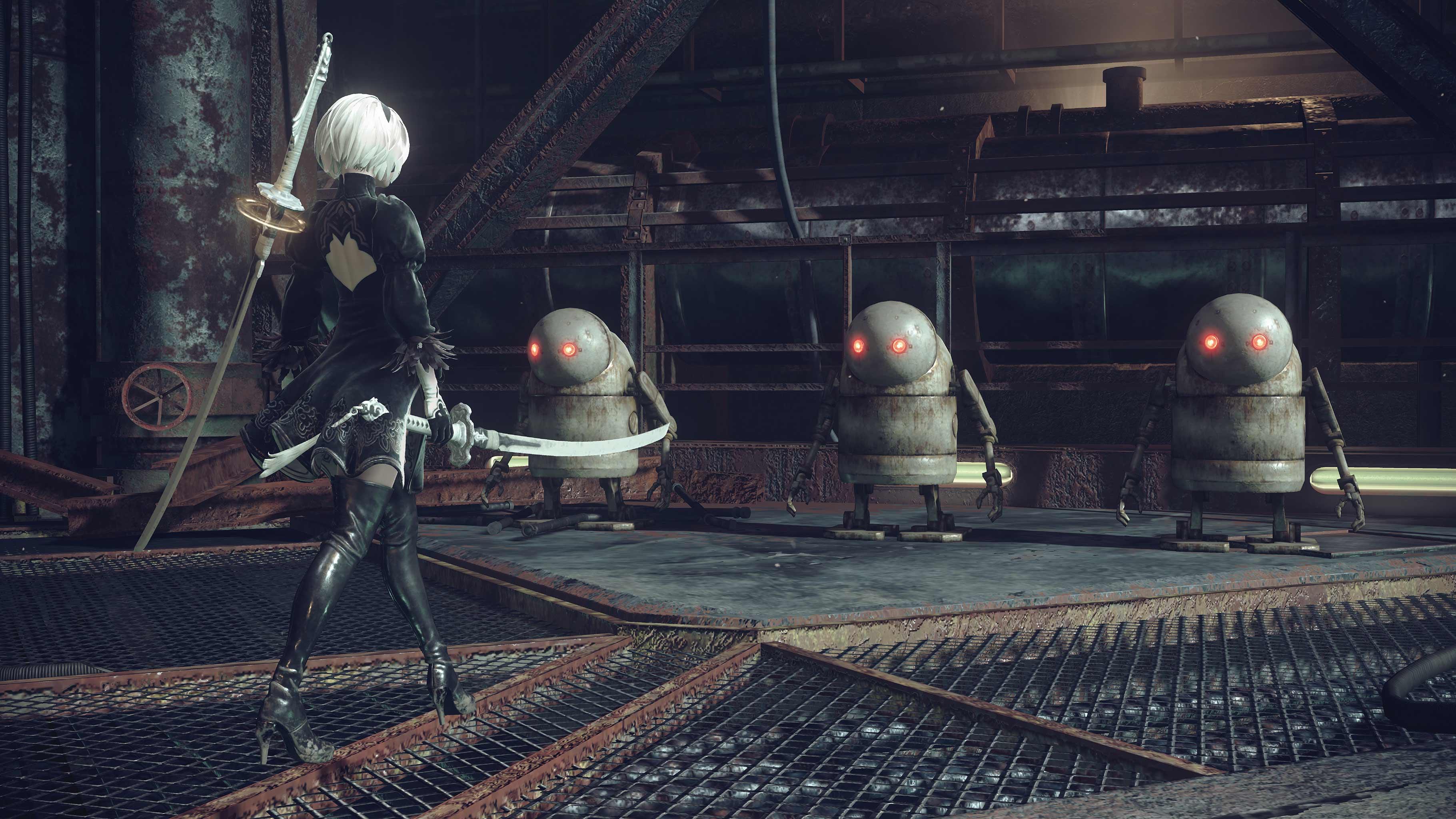NieR: Automata v prvním gameplay traileru a screenshoty 115662