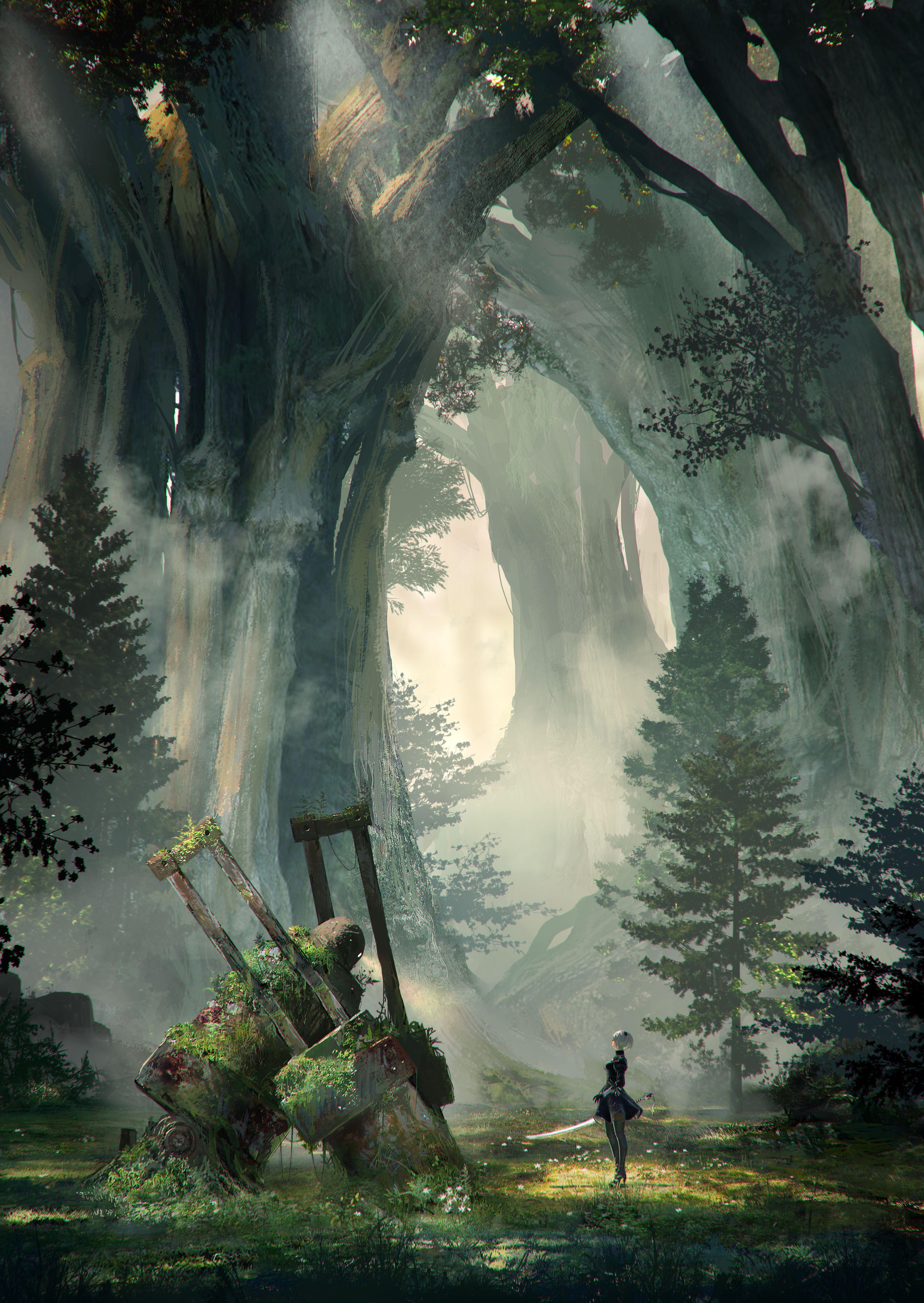 NieR: Automata v prvním gameplay traileru a screenshoty 115678