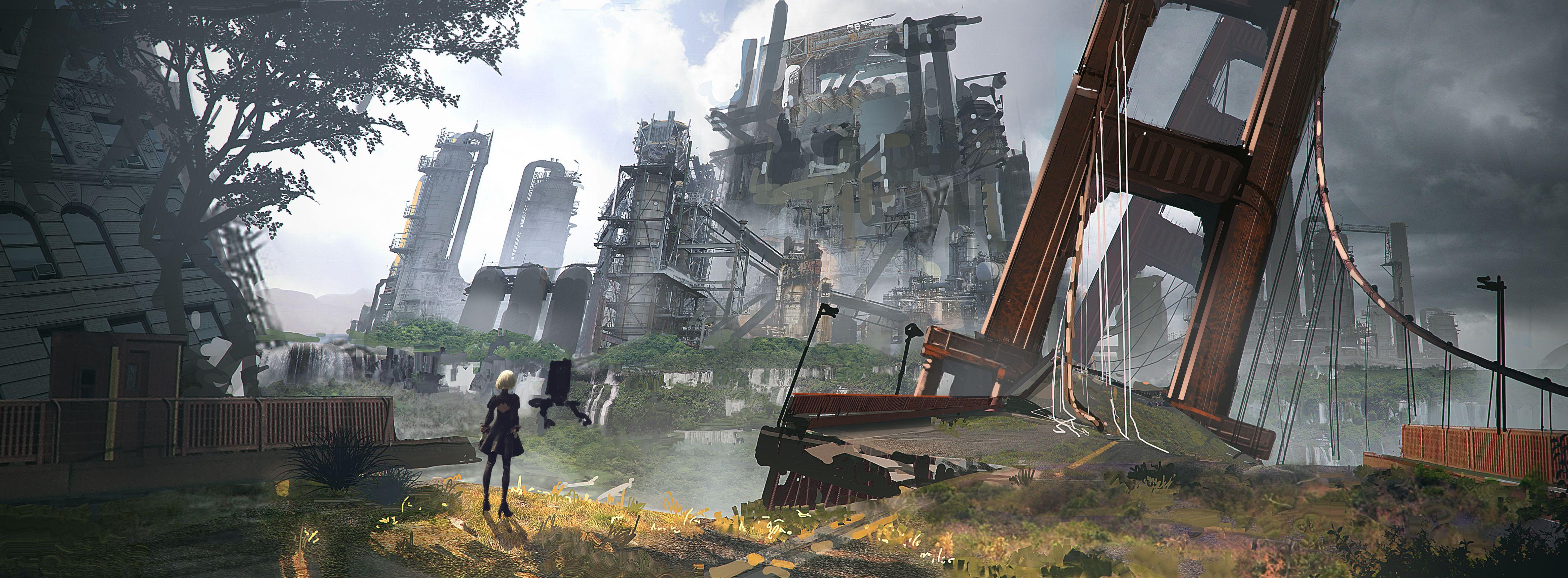 NieR: Automata v prvním gameplay traileru a screenshoty 115681