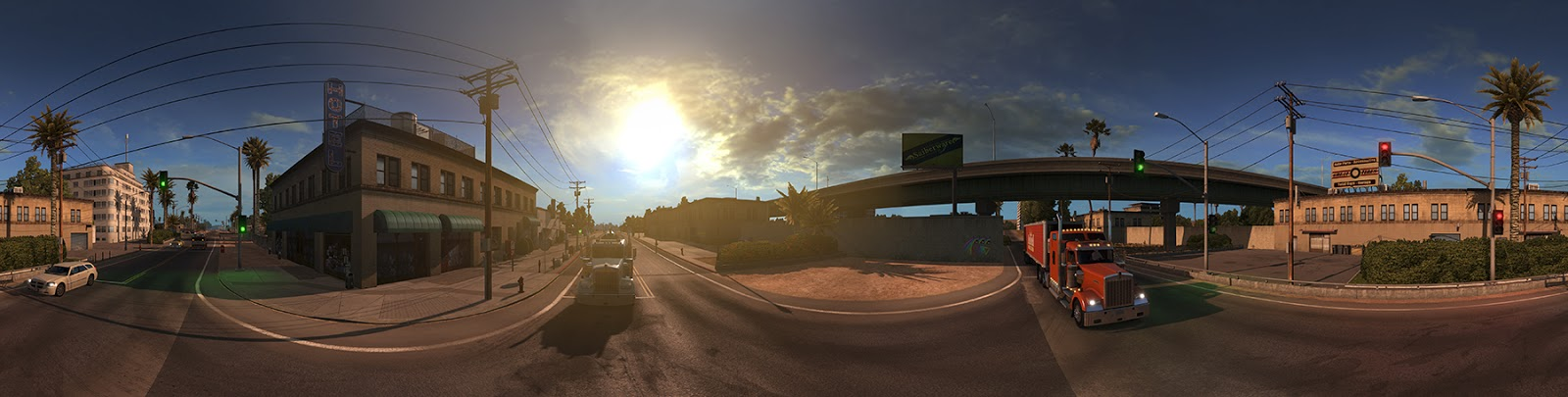 Panorama Kalifornie z American Truck Simulatoru 116423