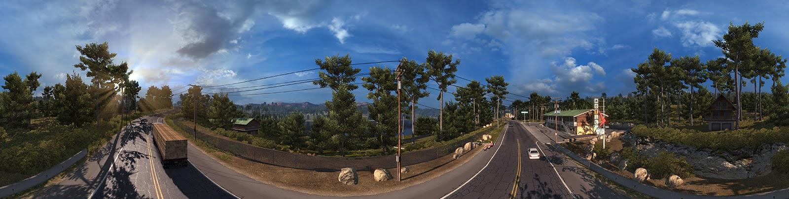 Panorama Kalifornie z American Truck Simulatoru 116424