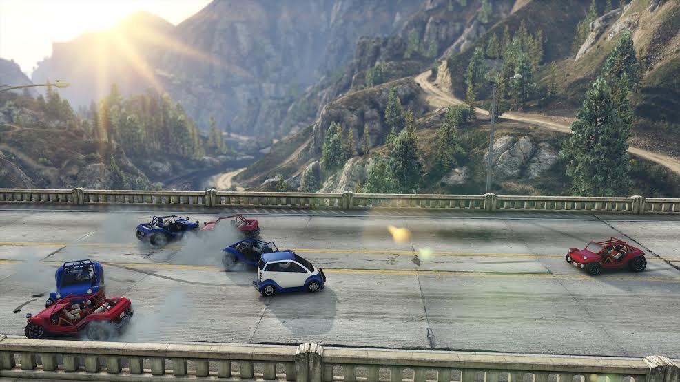 V GTA Online si můžete zahrát americký fotbal s auty 116622