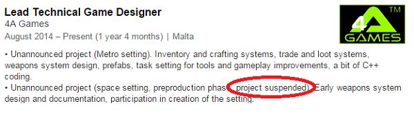 Vývoj neoznámené vesmírné hry od tvůrců Metra byl pozastaven 116787