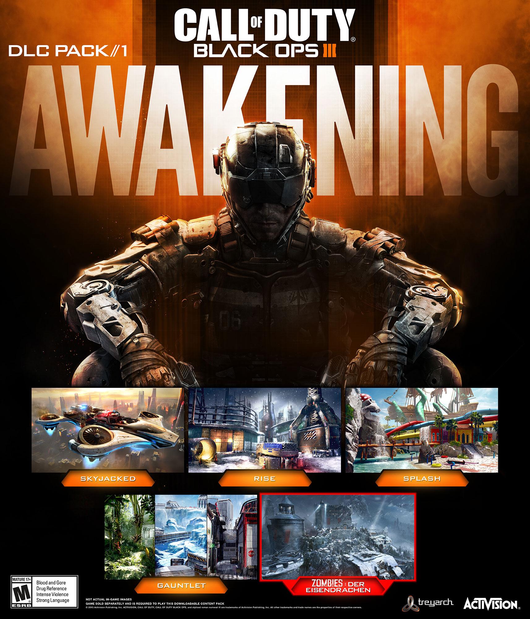 DLC Awakening pro Black Ops 3 se předvádí ve videu 116996