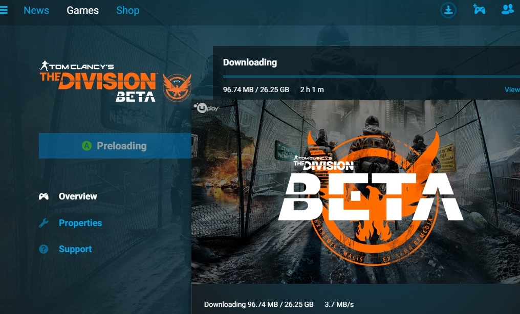 Beta The Division bude mít přes 26 GB 118153