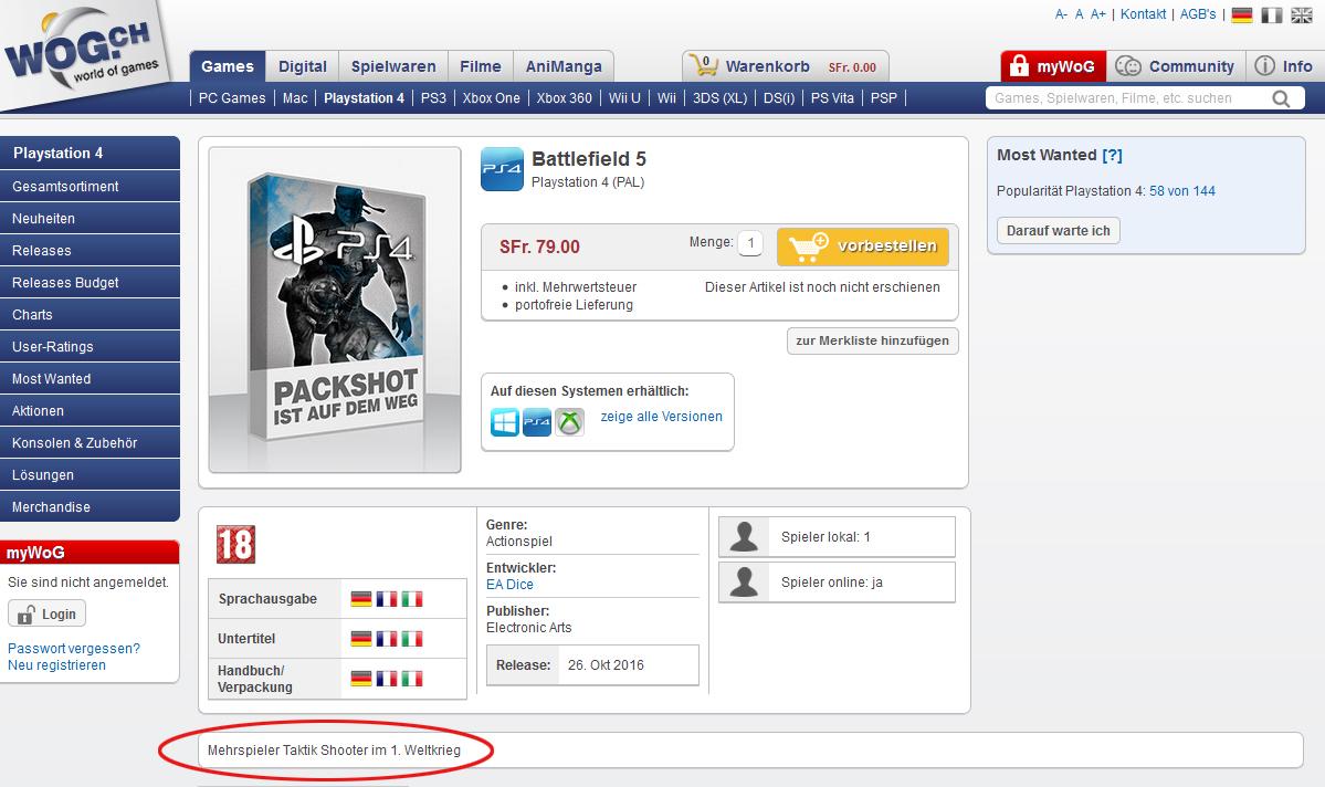 Čeká nás revoluce? Battlefield 5 se má odehrávat za první světové války 119917