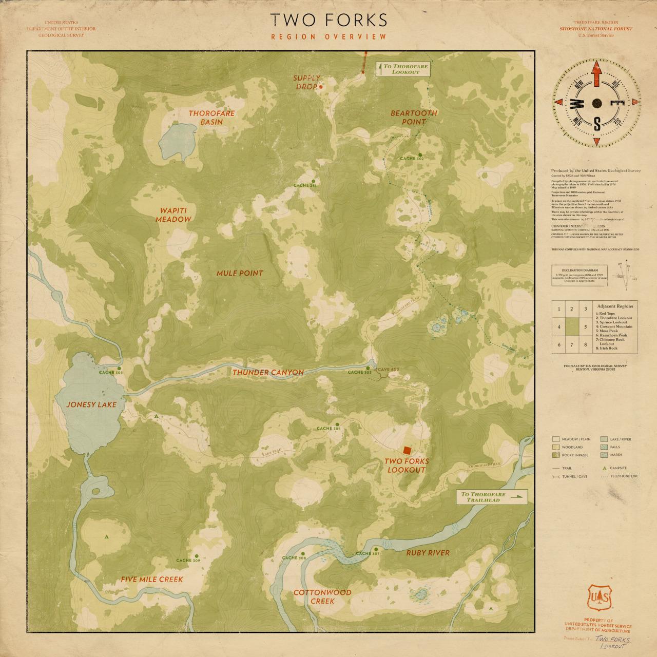 Vytiskněte si mapu Firewatch 119952