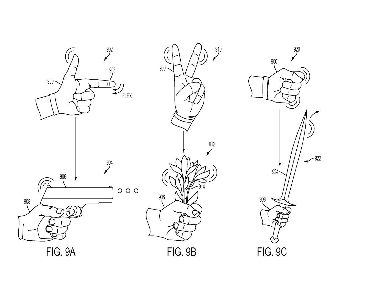 Tři patenty Sony na speciální rukavice pro PS VR 119988