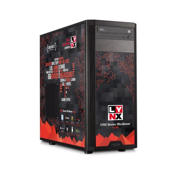 Vyber si ze 4 výkonnostních typů herních počítačů LYNX 121195