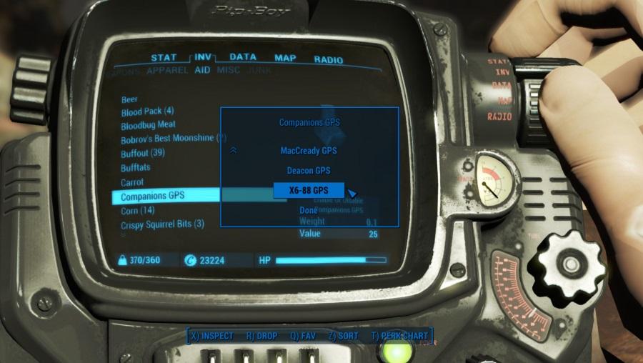 GPS navigace usnadní hraní Falloutu 4 121196