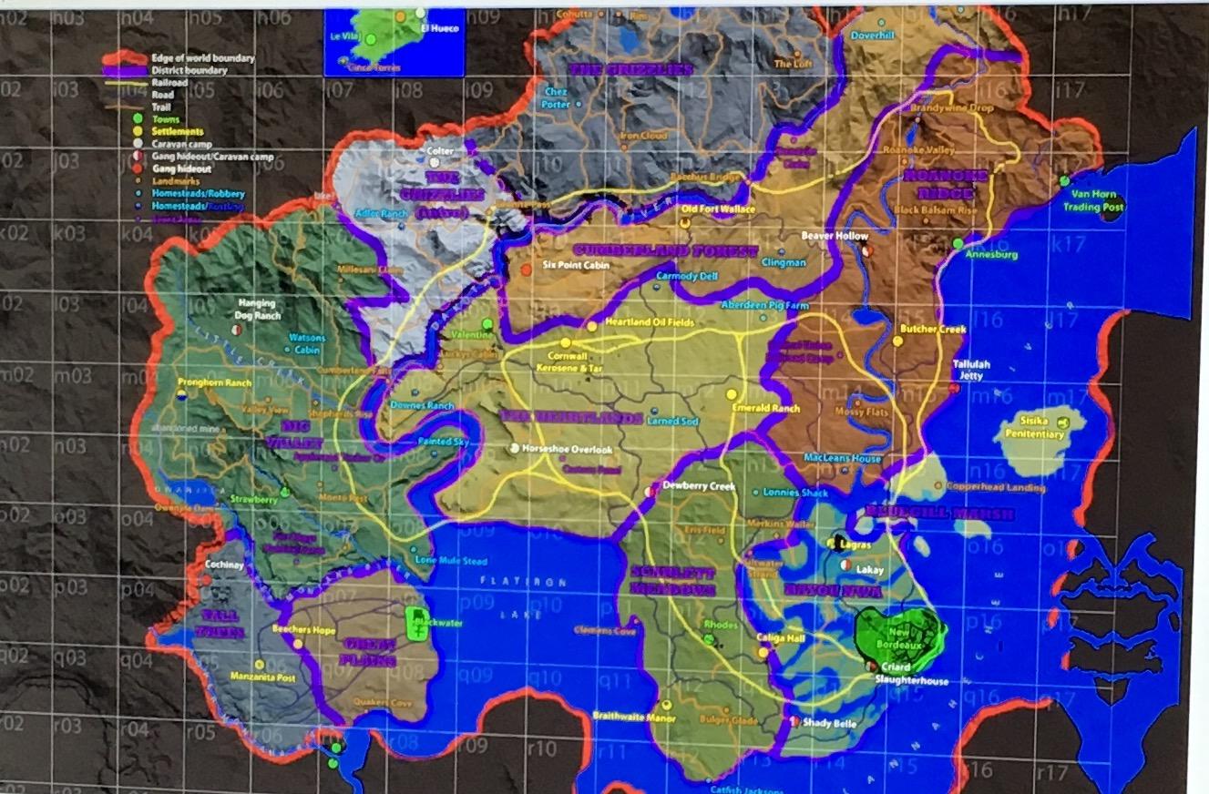 Může to být mapa Red Dead Redemption 2? 122493