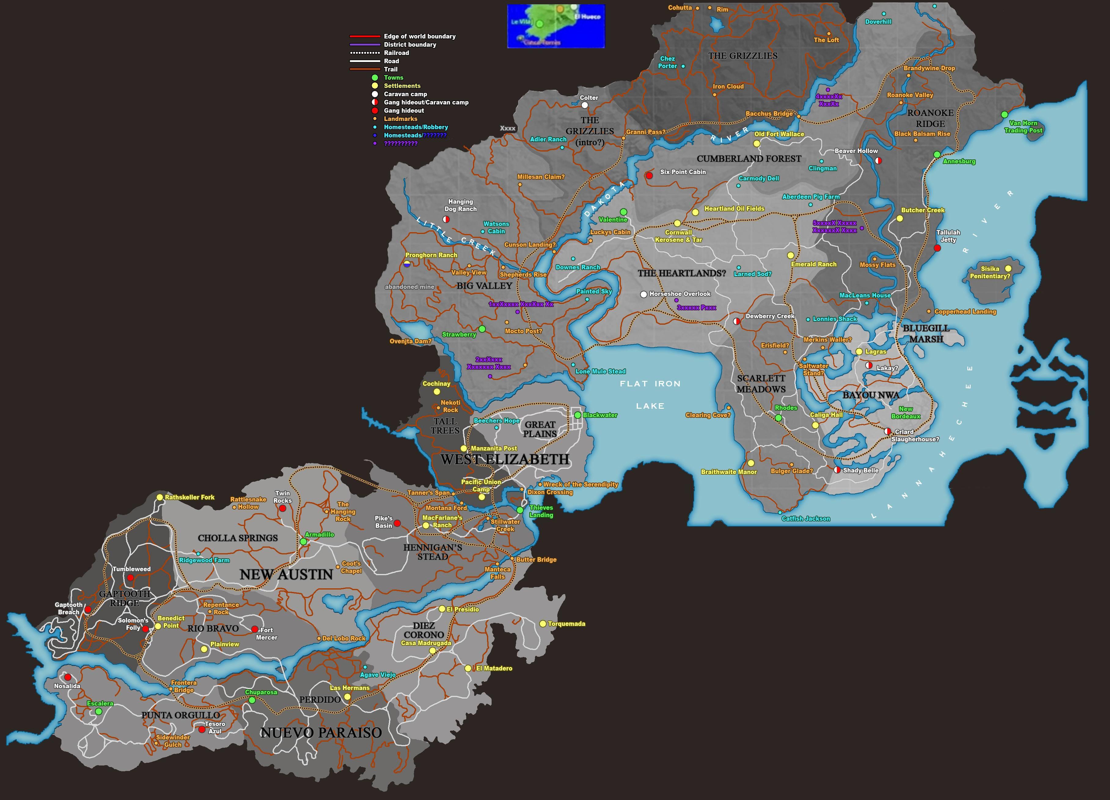 Může to být mapa Red Dead Redemption 2? 122559