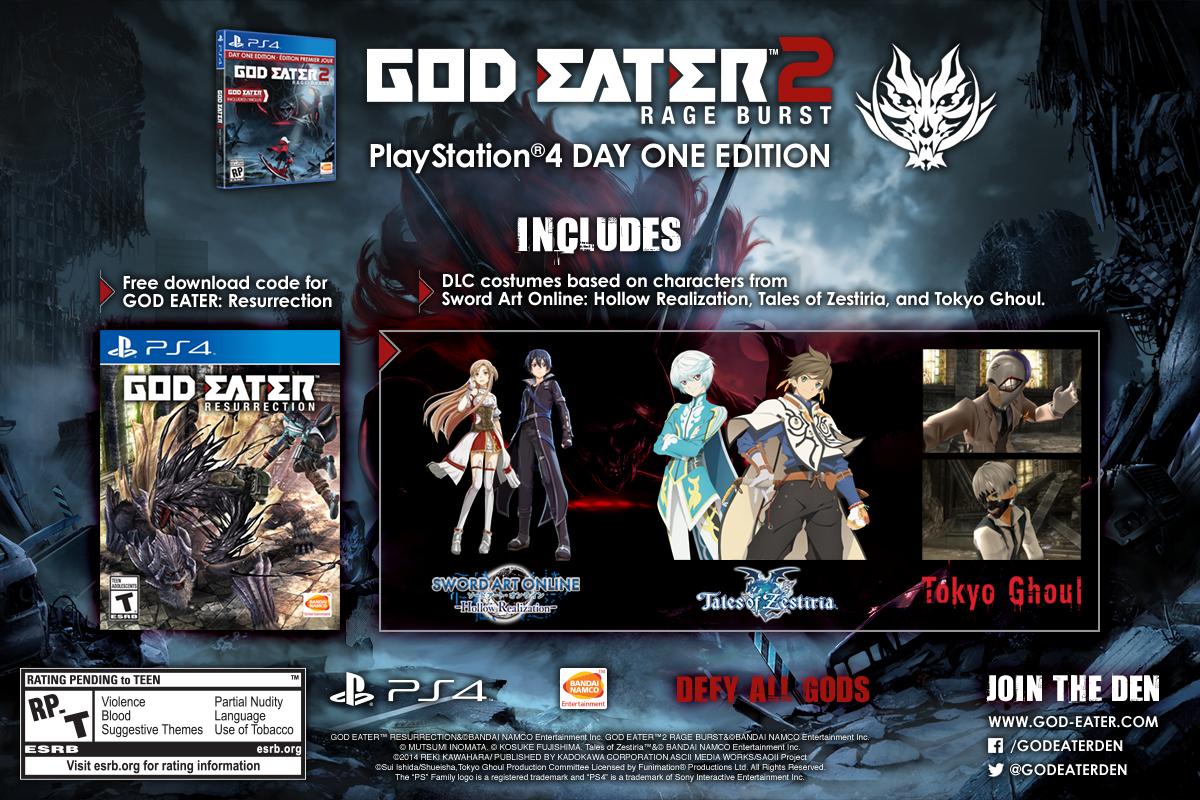 God Eater: Resurrection a God Eater 2: Rage Burst dorazí koncem prázdnin 122925