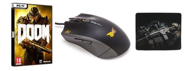 Kombo balíček: profesionální herní myš, podložka a hra 123989