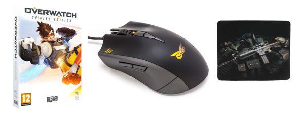 Kombo balíček: profesionální herní myš, podložka a hra 123990