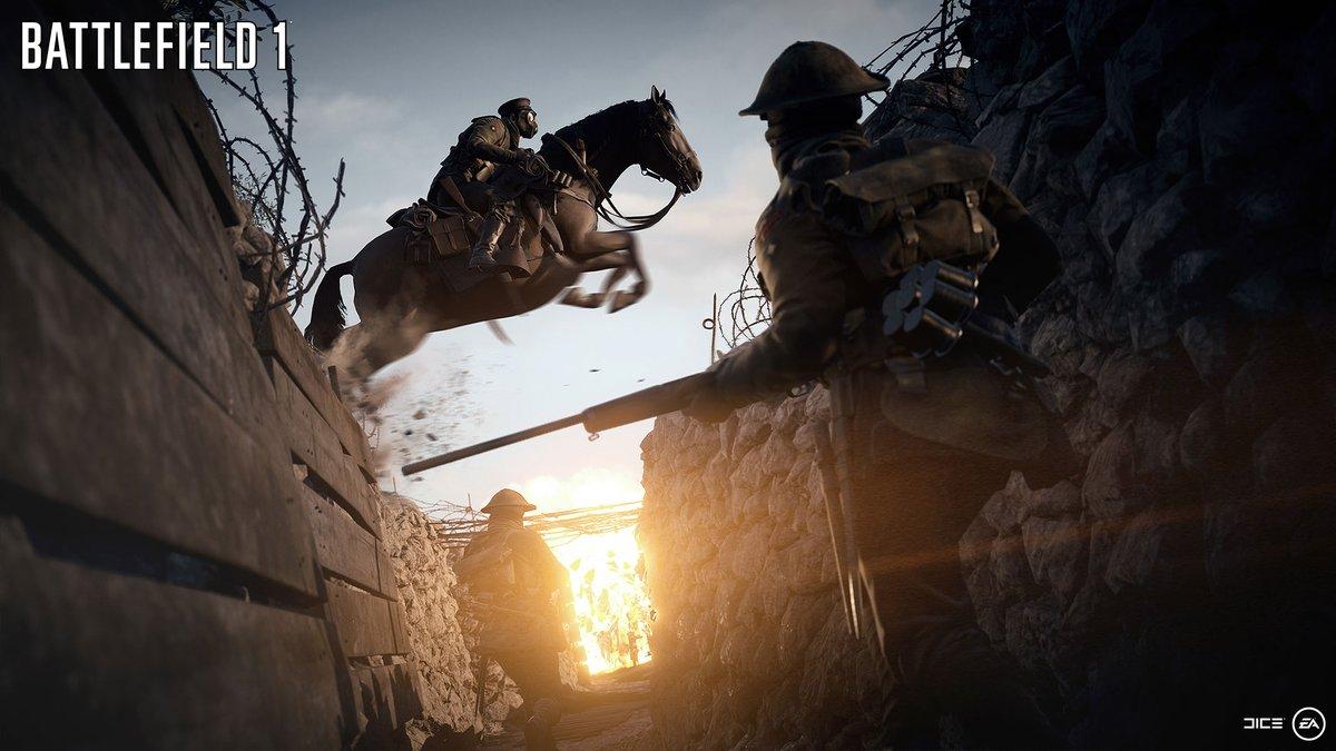 Koně v Battlefieldu 1 jsou široce využitelní společníci 125475