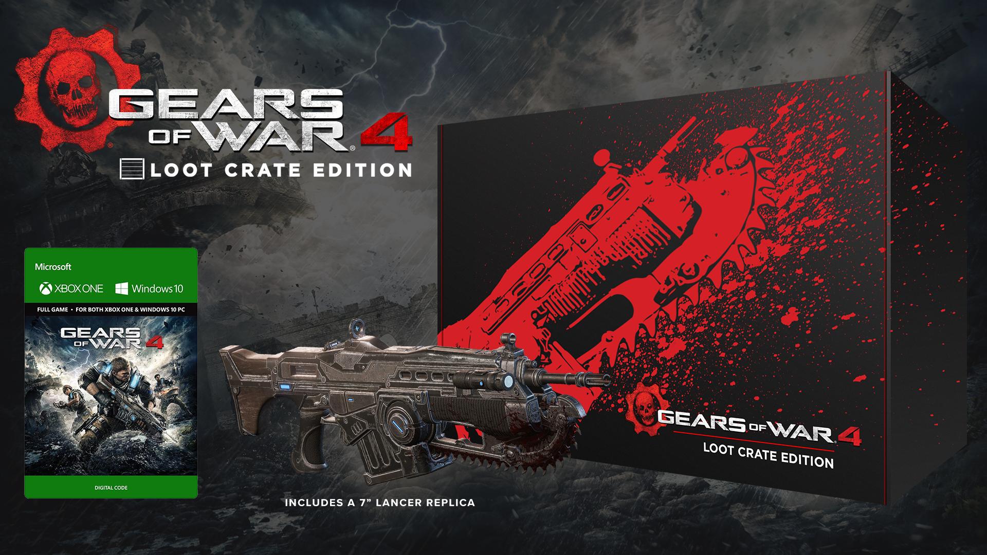 Za čtyři tisíce korun edice Gears of War 4 s replikou zbraně Lancer 127002
