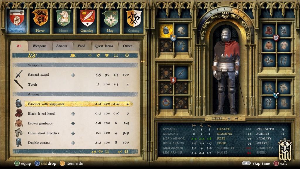O RPG prvcích a systému vrstev zbroje v Kingdom Come: Deliverance 127048
