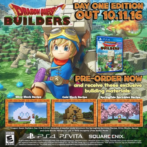 Pro Dragon Quest Builders oznámena Day One Edition 127369