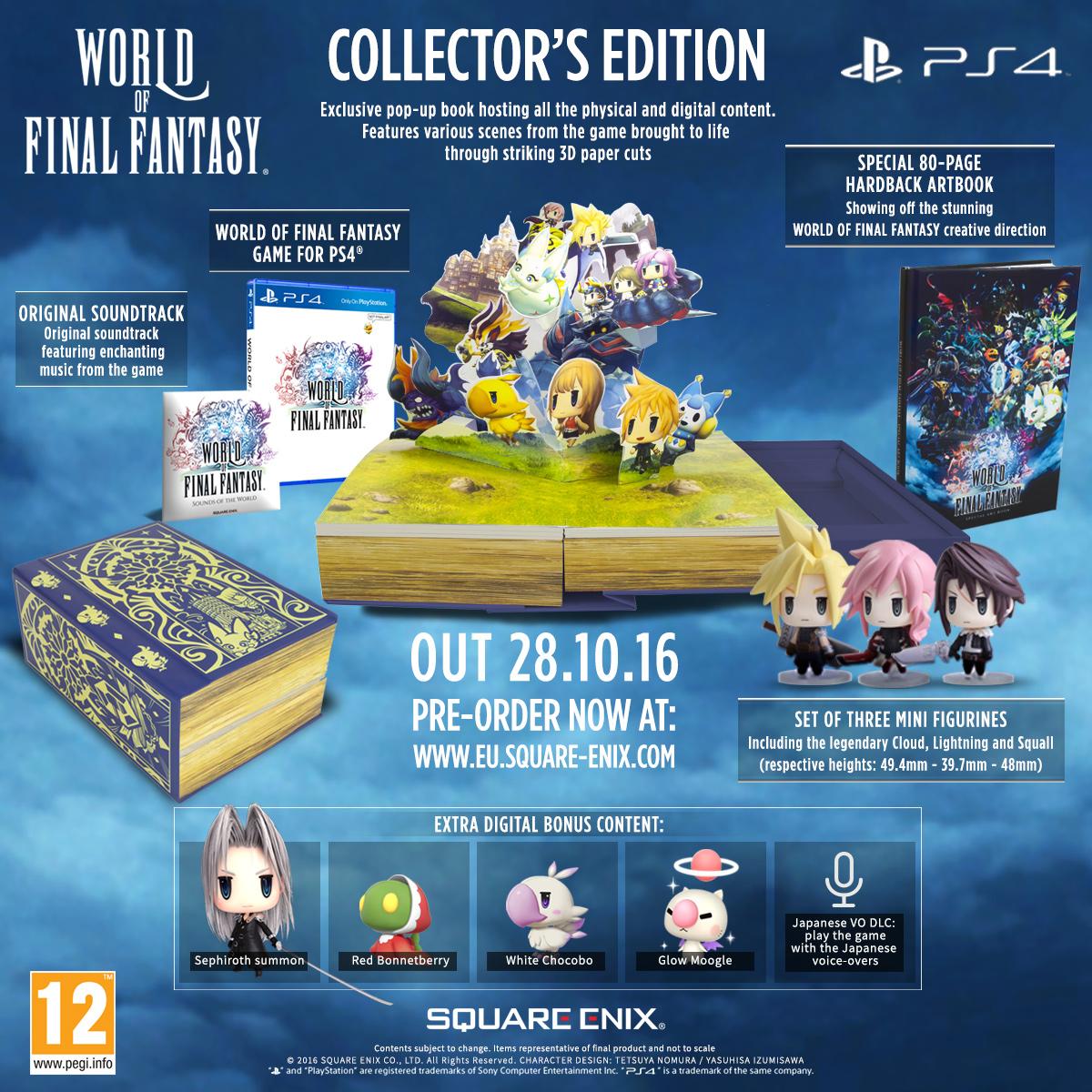 Našlapaný obsah limitované edice World of Final Fantasy 127598