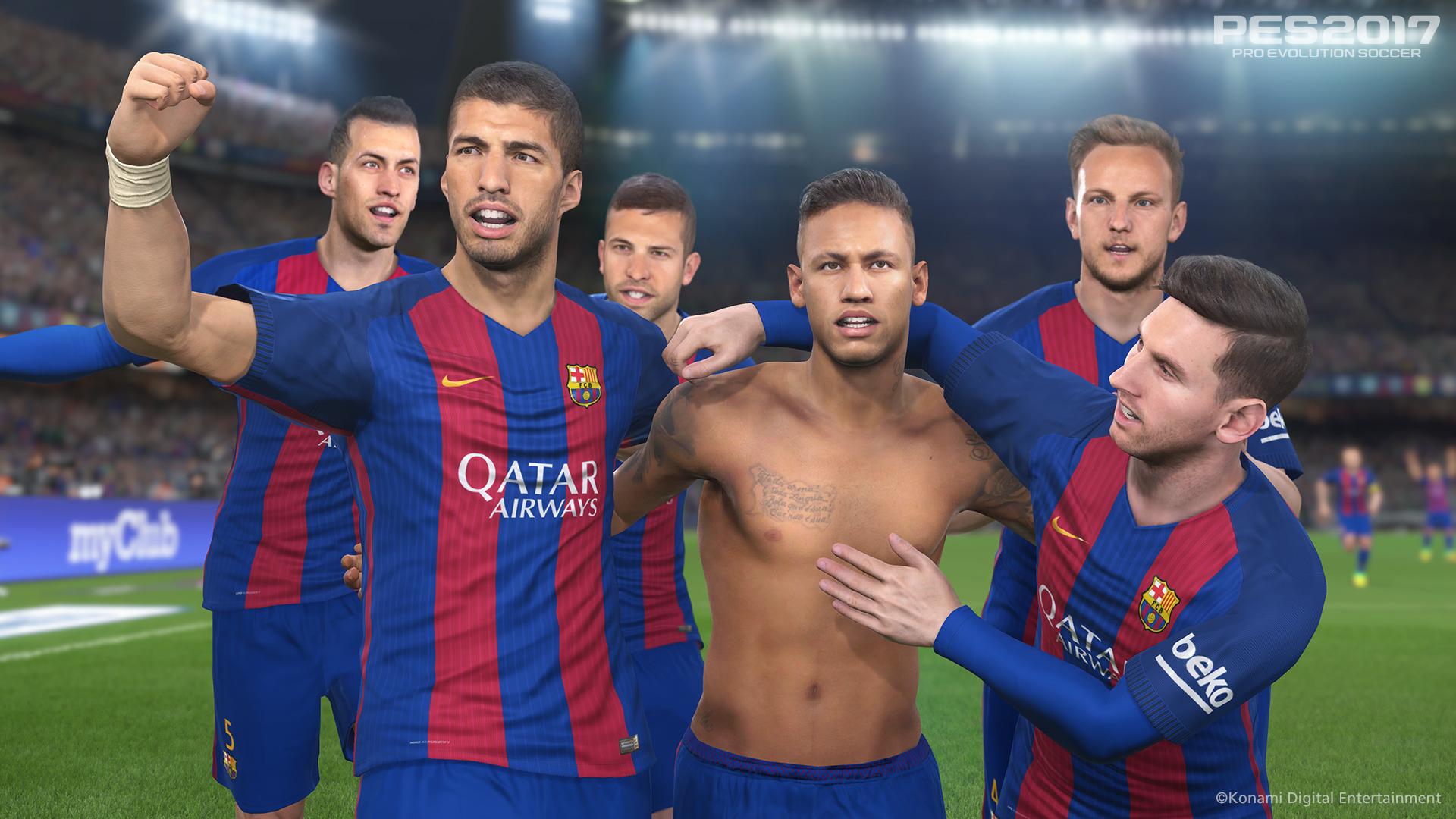 Hráči Barcelony hvězdami PES 2017 127698