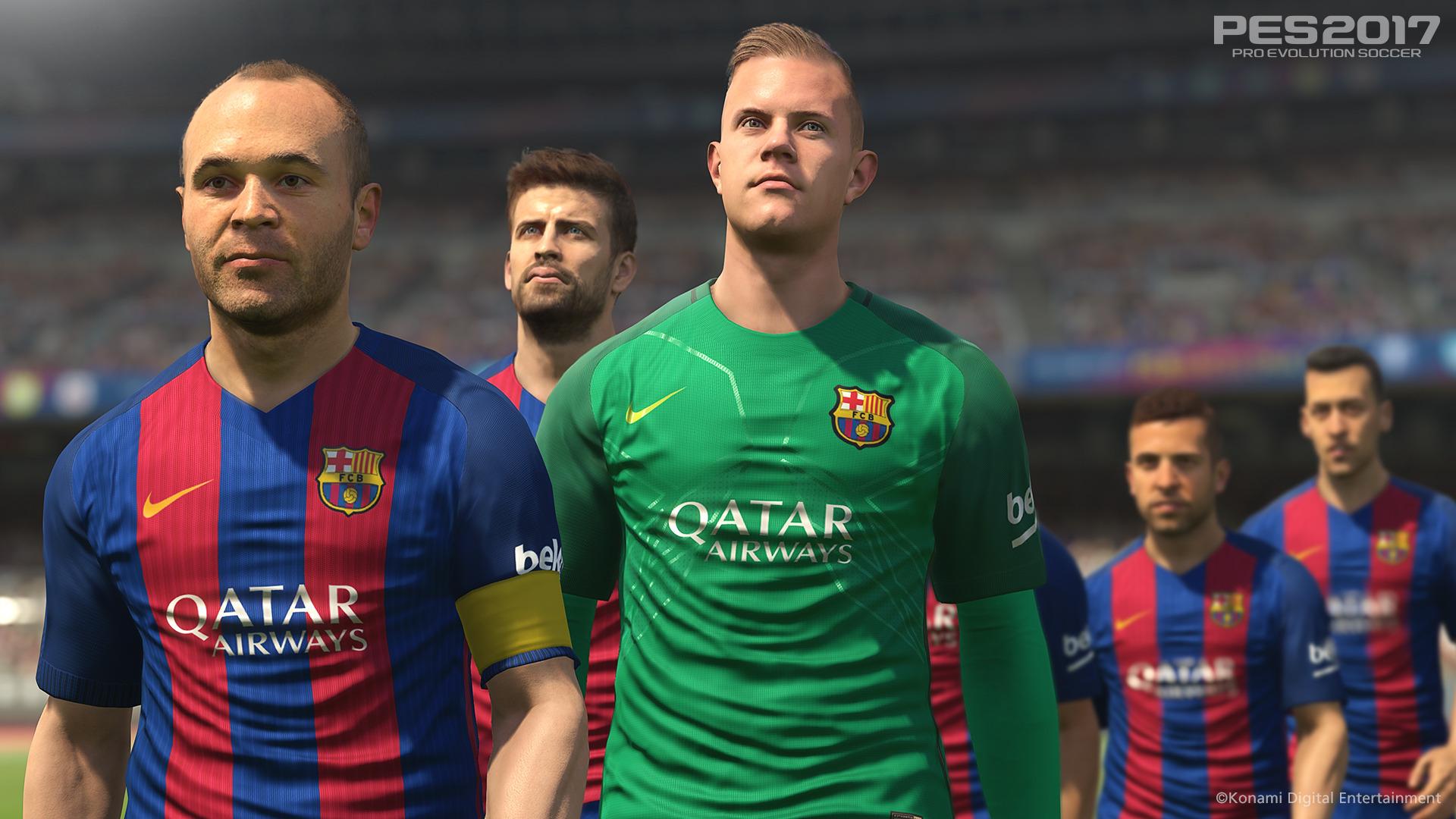 Hráči Barcelony hvězdami PES 2017 127699