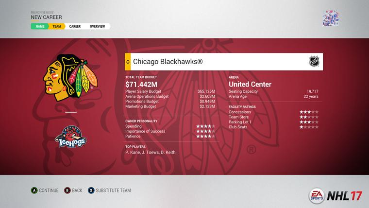 NHL 17 představuje mód Organizace 128265