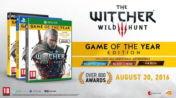 Game of the Year edice Zaklínače 3 dorazí 30. srpna 128452