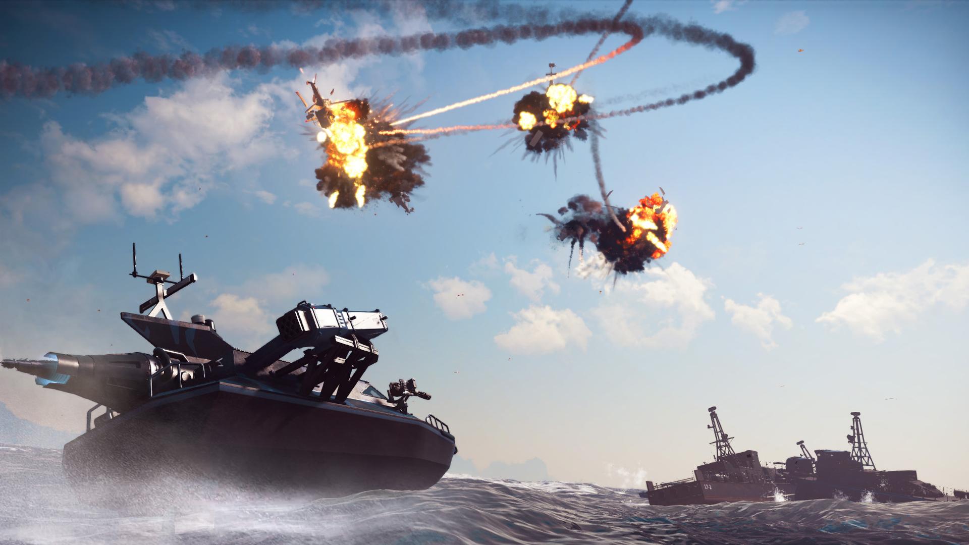 Ozbrojená loď z Bavarium Sea Heist DLC pro Just Cause 3 se předvádí ve videu 128580