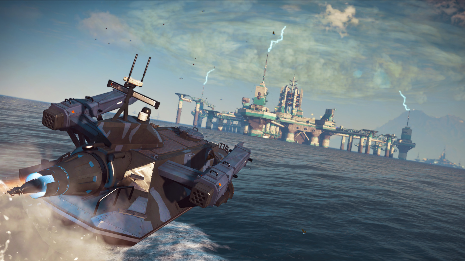 Ozbrojená loď z Bavarium Sea Heist DLC pro Just Cause 3 se předvádí ve videu 128584