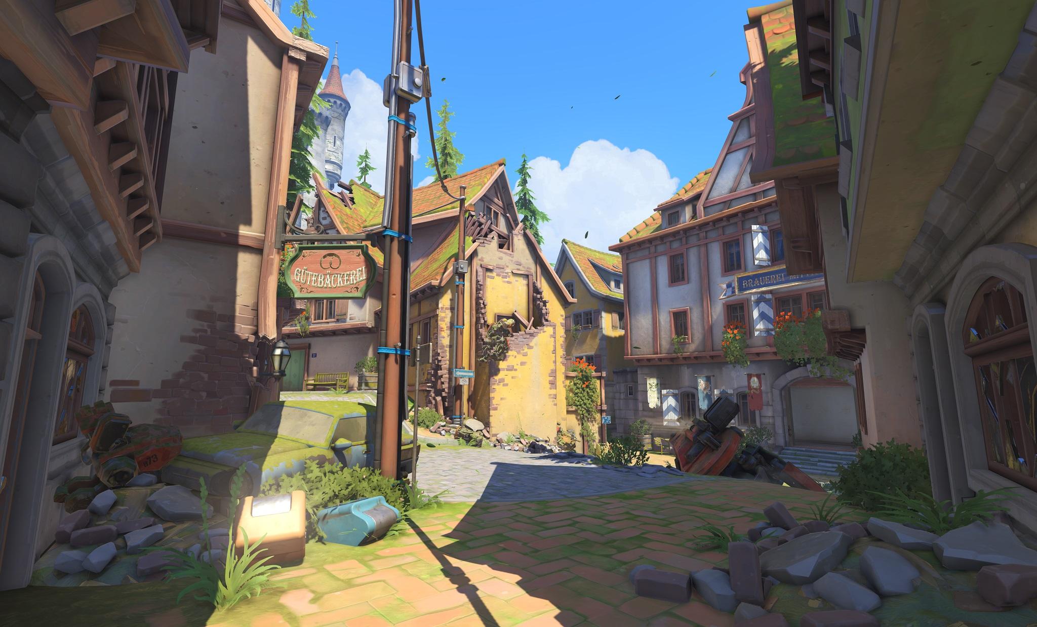Nová mapa pro Overwatch nás zavede do hradu a přilehlého městečka v Německu 128660