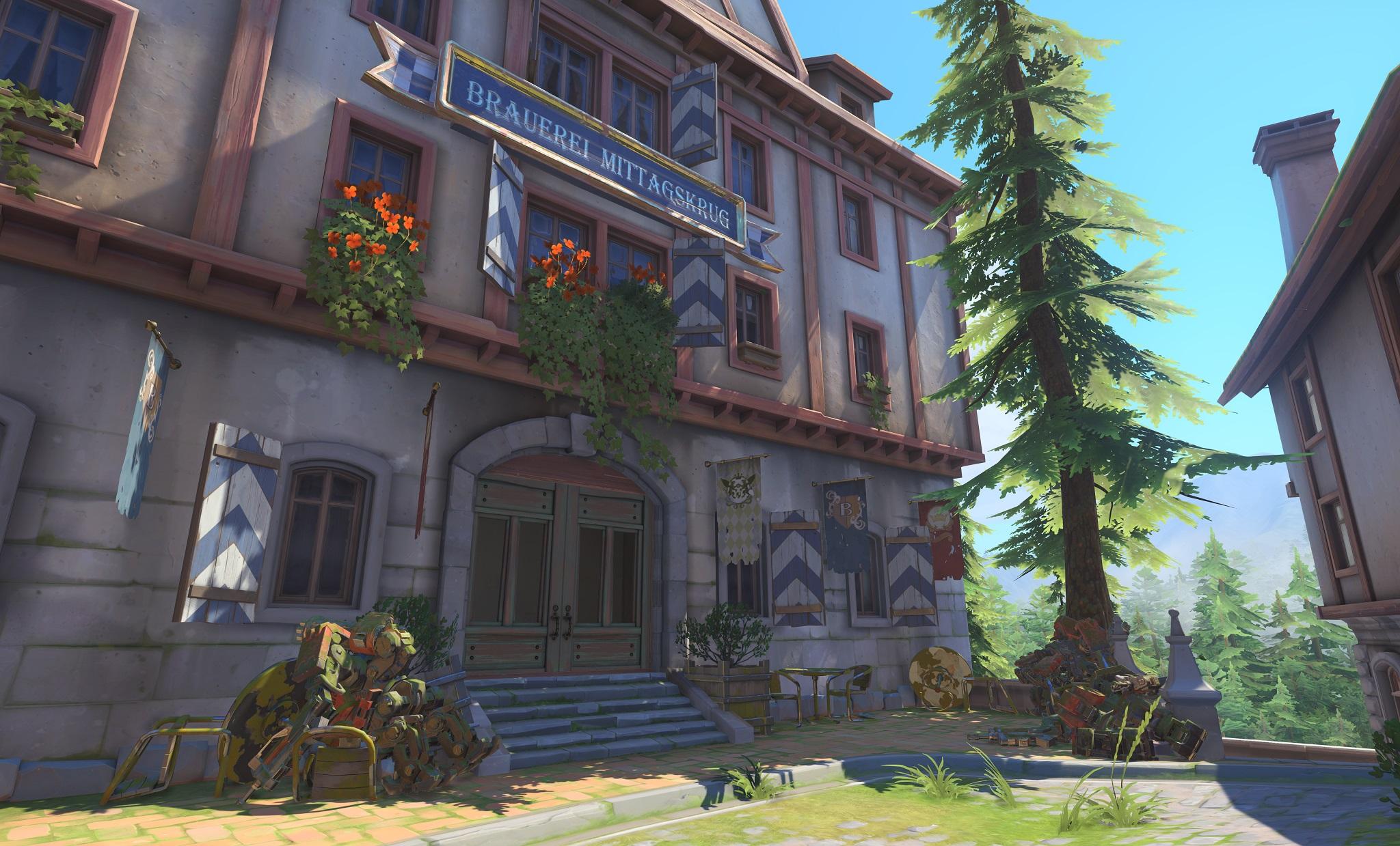 Nová mapa pro Overwatch nás zavede do hradu a přilehlého městečka v Německu 128669