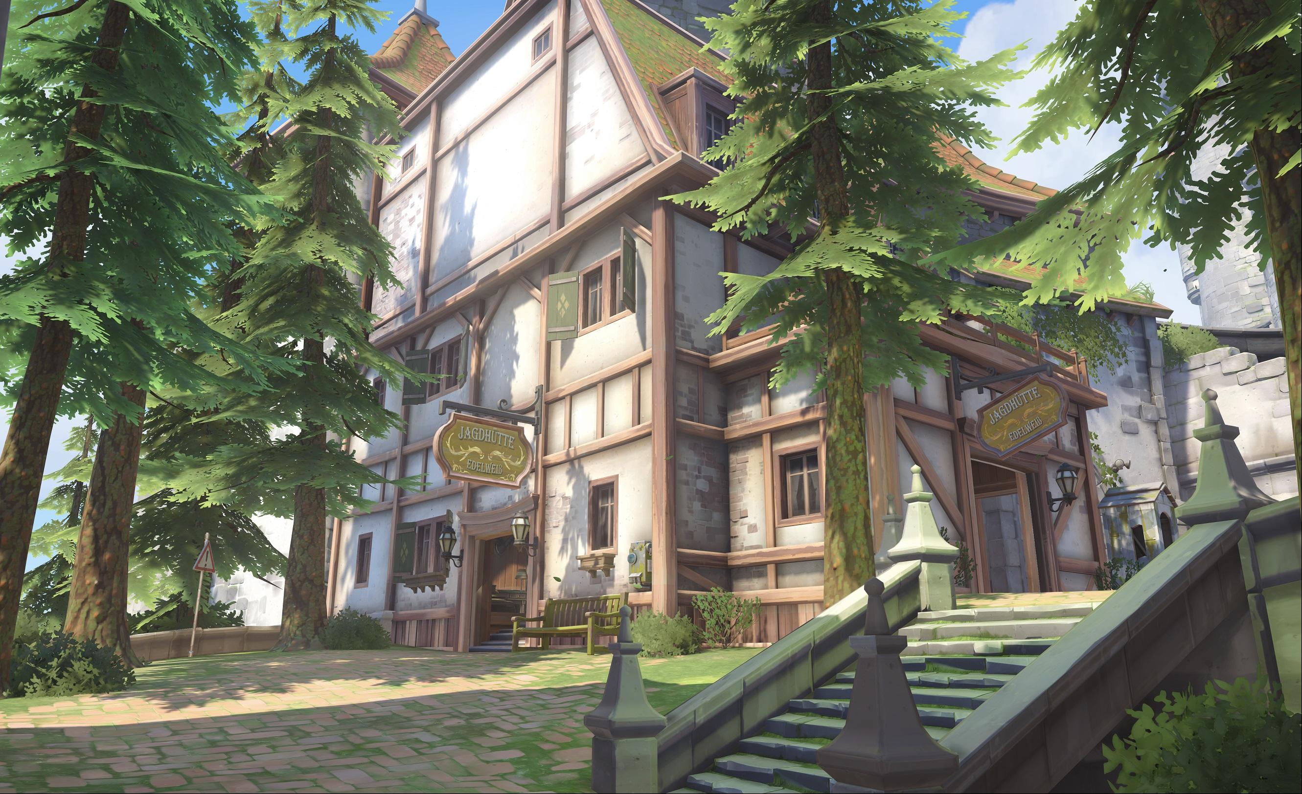 Nová mapa pro Overwatch nás zavede do hradu a přilehlého městečka v Německu 128681